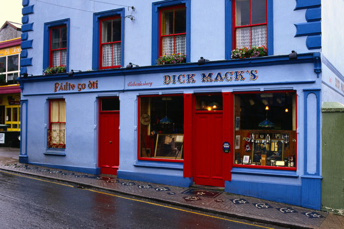 With enticing way-side stops such as this, Dick Mack's pub, Ireland is the perfect place for a thirsty walker - Dingle, Dingle Peninsula, County Kerry, Munster