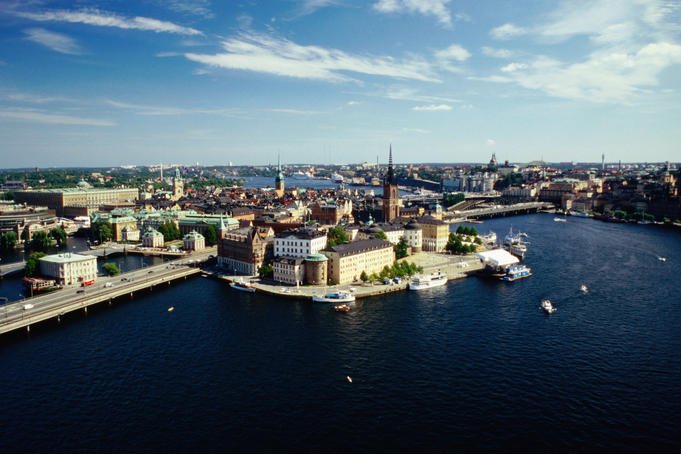 A view of the island of Stadsholmen, the heart of central Stockholm.