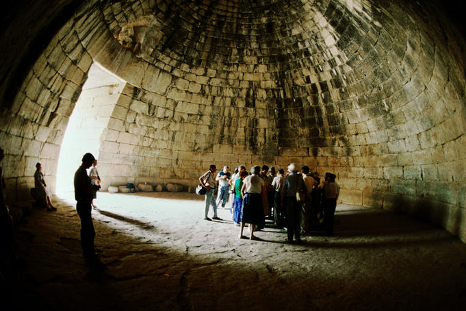 Tomb of Agamemnon in village of Mycenae.
