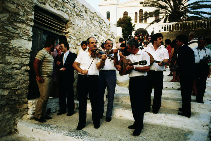 Musicians at Greek wedding.