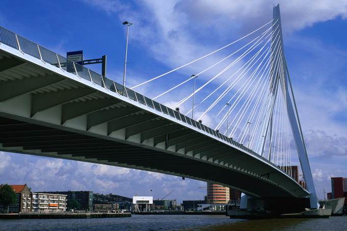 Erasmusbrug bridge built in 1996.