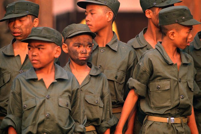 Young army recruits at Lai Serng Terng Camp.