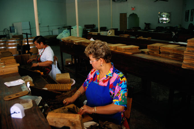 Cigar makers in Little Havana.