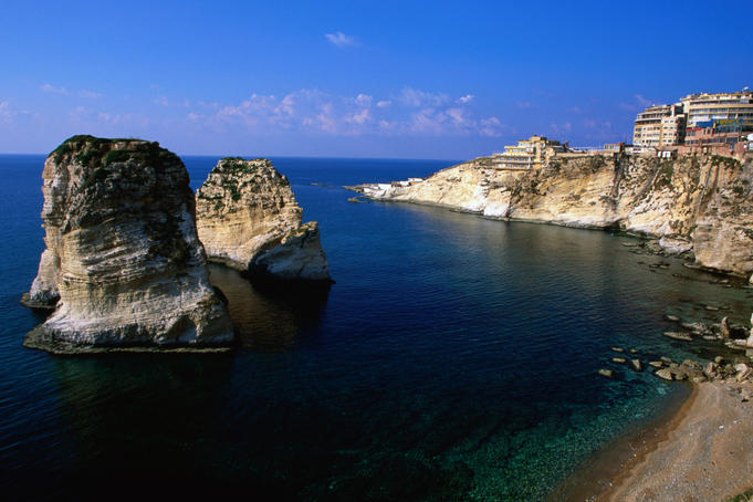 Pigeon rocks on the Mediterranean Sea.