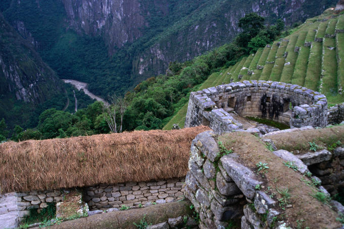 Temple of the Sun overlooking the sacred Urubamba Valley is a circular tower with the best stonework in Machu Picchu.