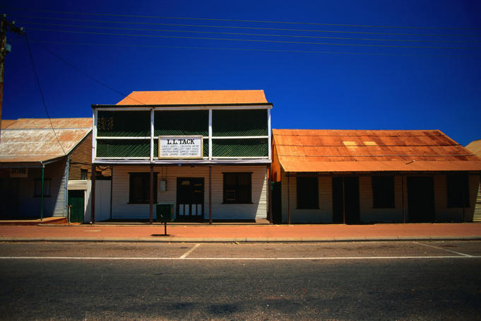 Timber and corrugation, the building material of outback Australia