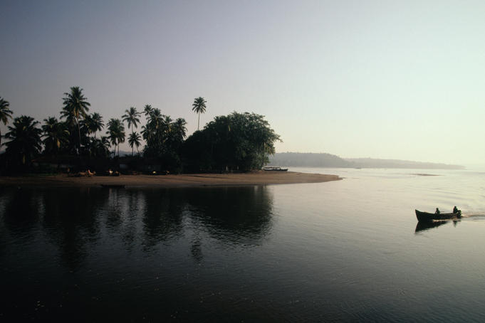 Mandovi River at sunset, Goa.