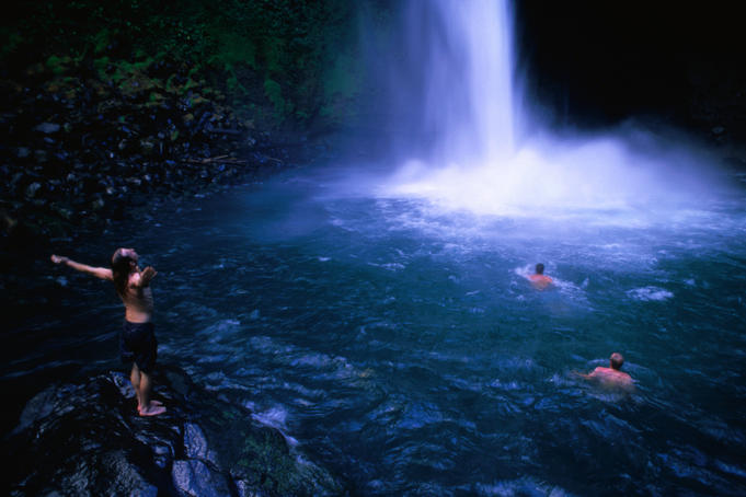La Fortuna Waterfall.