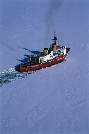 The US Ice Breaker 'Polar Sea' in McMurdo Sound.