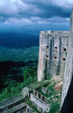 The mammoth La Citadelle of Haiti. The fort was built by the last king of Haiti, Henri Christophe and is the 8th man-made Wonder of the World.