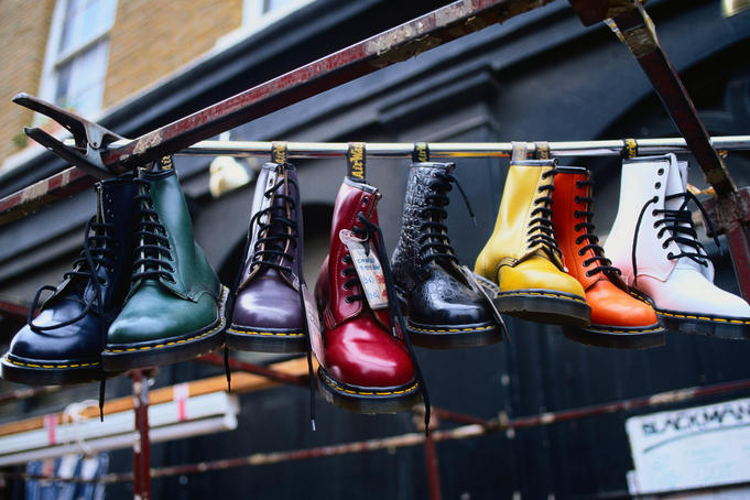 Brick Lane Market: Boots for sale - London, Greater London, England