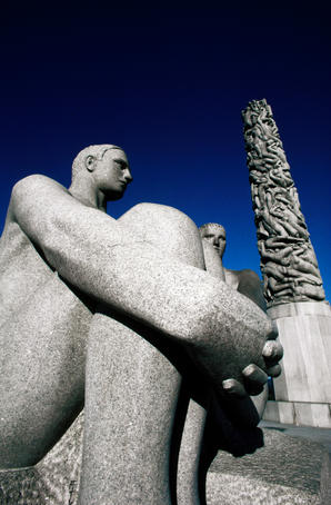Vigeland sculpture at Frogner Park.