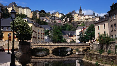 A bridge over the Alzette in the city of Luxembourg.