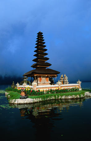 Ulun Danu Bratan in Lake Bratan.
