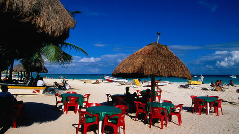 The beach, Playa Del Carmen