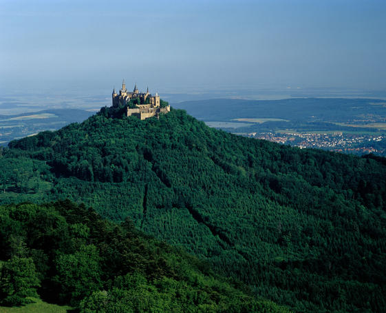 Hilltop Hohenzollern Castle in Stuttgart.