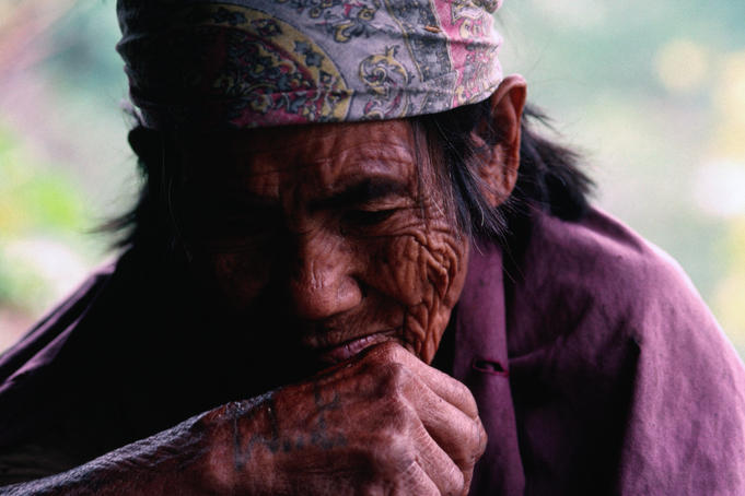 Ifugao tribesman from the Cordillera Mountains.