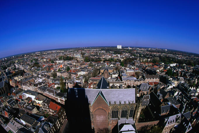 View over city from the Dom or cathedral.
