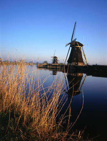 World heritage windmills at Kinderdijk.