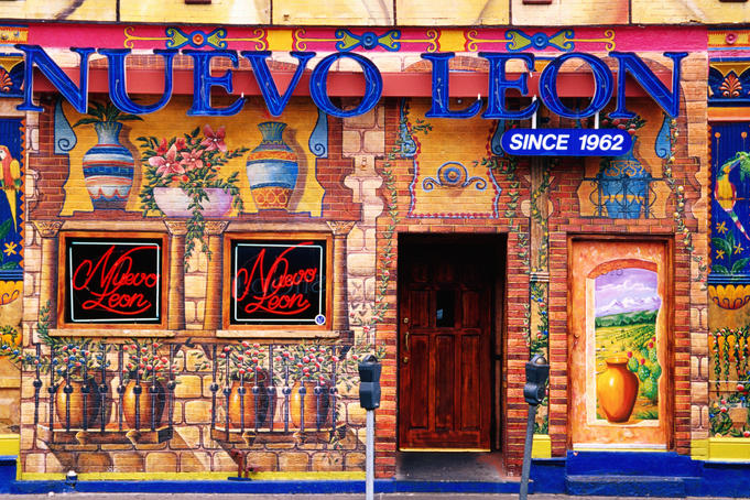 Nuevo Leon restaurant on 18th Street in Pilsen area.