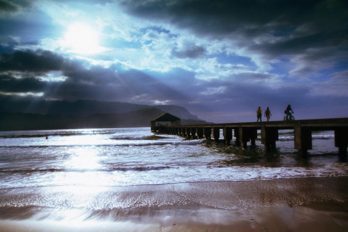 Hanalei Bay pier.