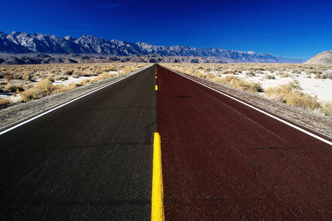 Road through Death Valley.