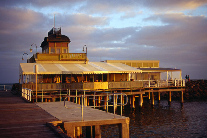Historic St Kilda Pier in Melbourne.