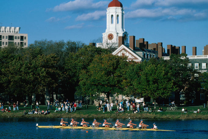 Head of the Charles (River) Regatta in Boston.