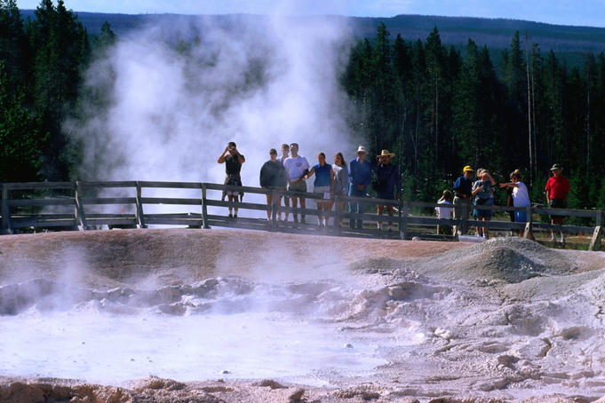 Fountain Paint pot in Yellowstone National Park.