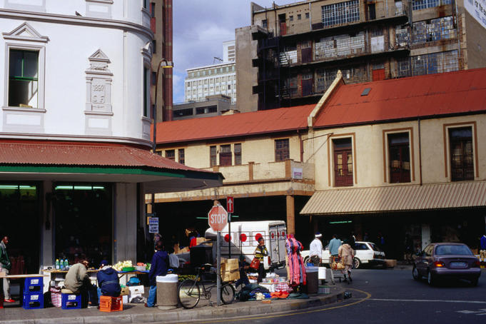 Street scenes: a busy street in central Johannesburg