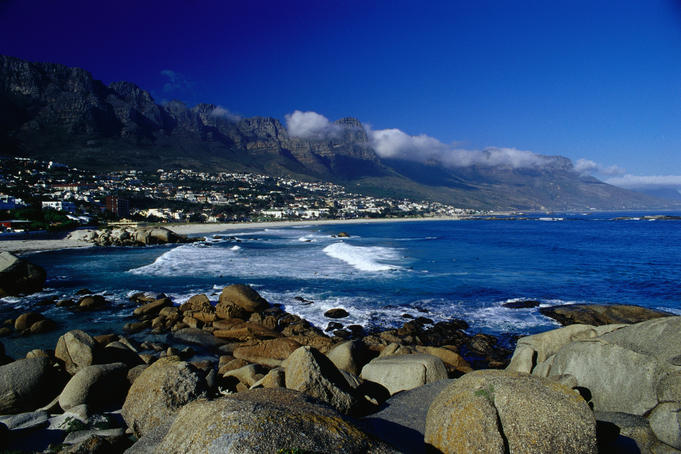 The suburb of Camps Bay and The Twelve Apostles