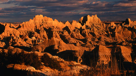 Dusk, Badlands National Park