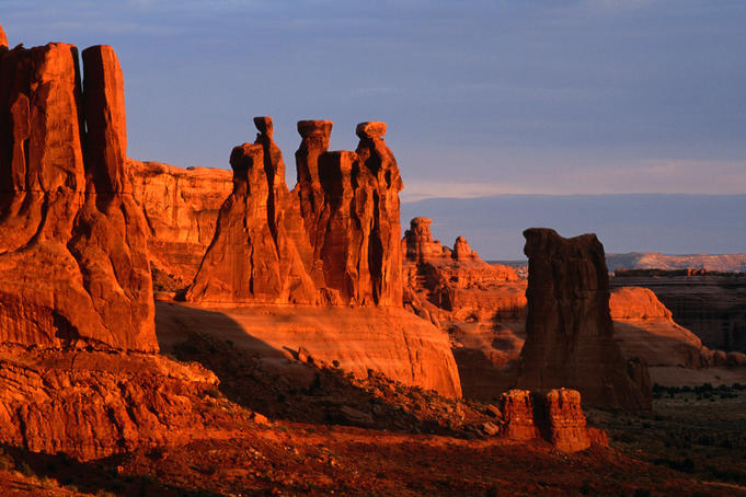 Three Gossips in Arches National Park.