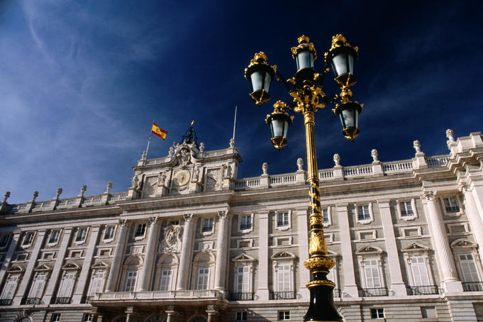 The Palacio Real in Madrid. The palace was completed in 1764 it is no longer used as a royal residence.