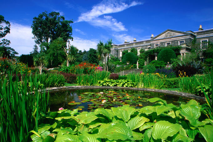 Garden pond of Mount Stewart House.