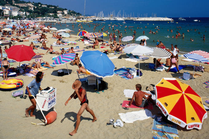 Cote d'Azur - beach in summer.