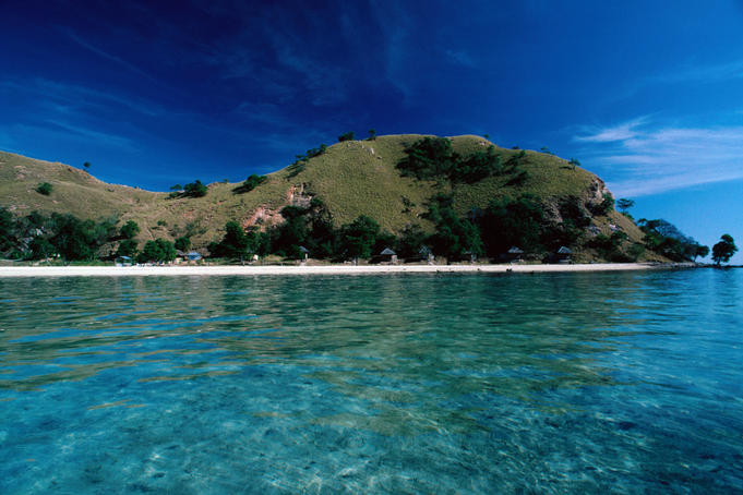 View of Pungo Island near Labuhan Bajo.