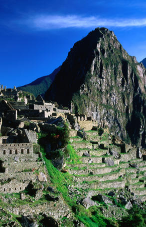 500 year-old Inca city of Machu Picchu, discovered in 1911 by American, Hiram Bingham.