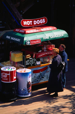 Hot dogs at Pier 39 - San Francisco, California