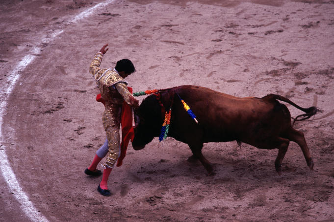 Bullfighting in Plaza de Toro.