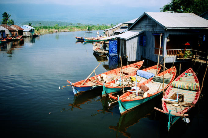 Fishing village near Kampot.