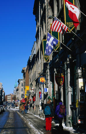 Rue St-Paul, west of Place Jacques-Cartier, Vieux Montreal.