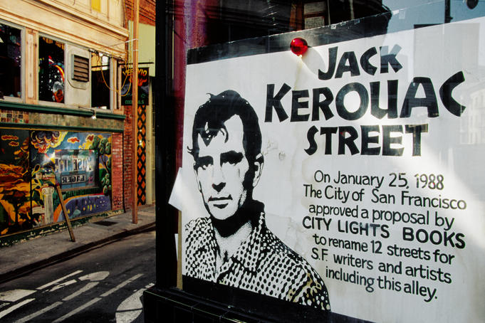 Sign, Jack Kerouac Street, North Beach District.