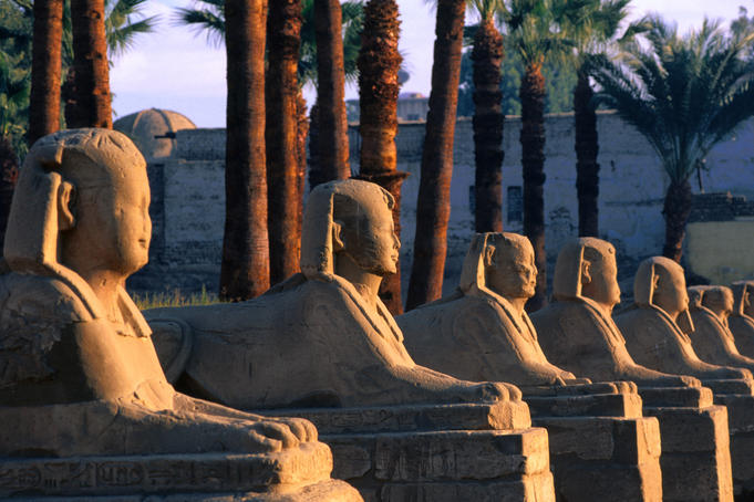 Avenue of the Sphinxes at Luxor Temple.