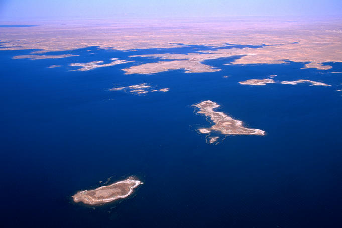 Lake Nasser from the air.