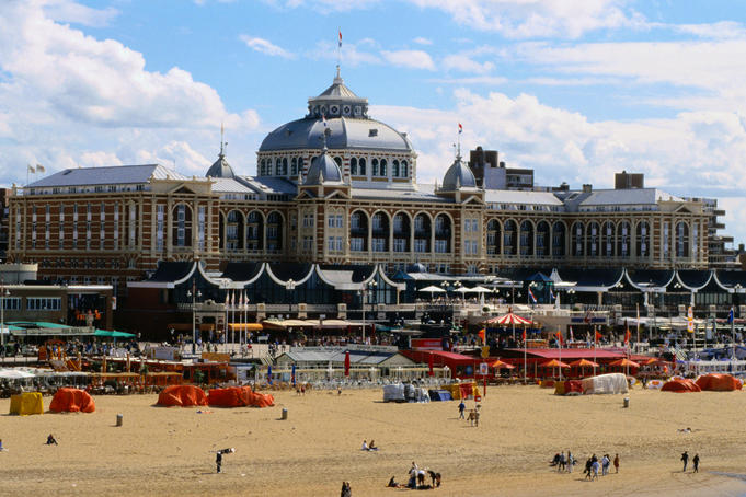 Kurhaus on the beach - Scheveningen, The Randstad