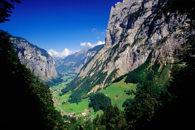 Stechelberg village in Lauterbrunnen Valley.