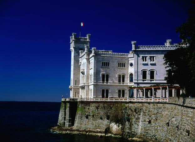 Miramare Castle built in the 19th century for Archduke Maximilian.