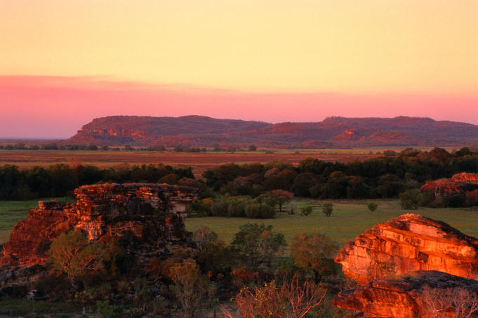Ubirr flood plain at sunset - Kakadu National Park, Northern Territory