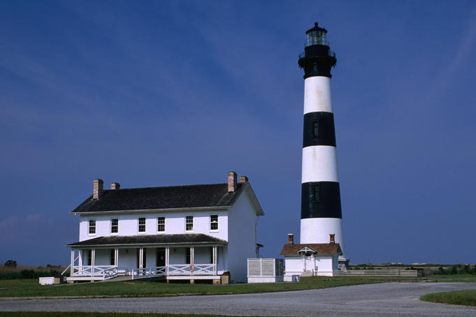 Bodie Island Lighthouse, Cape Hatteras National Seashore, Outer Banks.